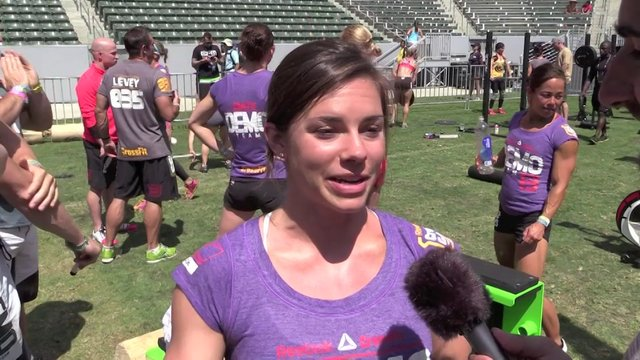 Video thumbnail for vimeo video Julie Foucher: 2013 CrossFit Games - Day 3